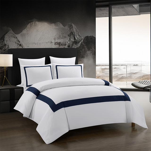 Yimeis ensemble de linge de lit géométrique, pour lit Double, couette, luxe, BE45005