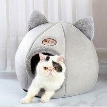 Casa produtos para animais de estimação tenda aconchegante camas de caverna indoor cama gato cama de gato de inverno conforto profundo cesta para gatos