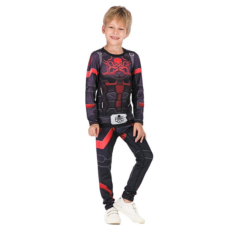 New Avengers Iron Man Thor Child Boys JIUJITSU Clothes Baby Coat Spider Man Workout Costume Kids T Shirts Boxeo Jerseys Top Tees