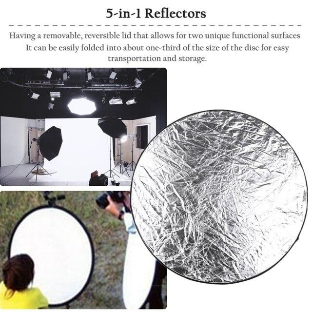 Фото 5 в 1 складной отражатель света 60 см 24 дюйма