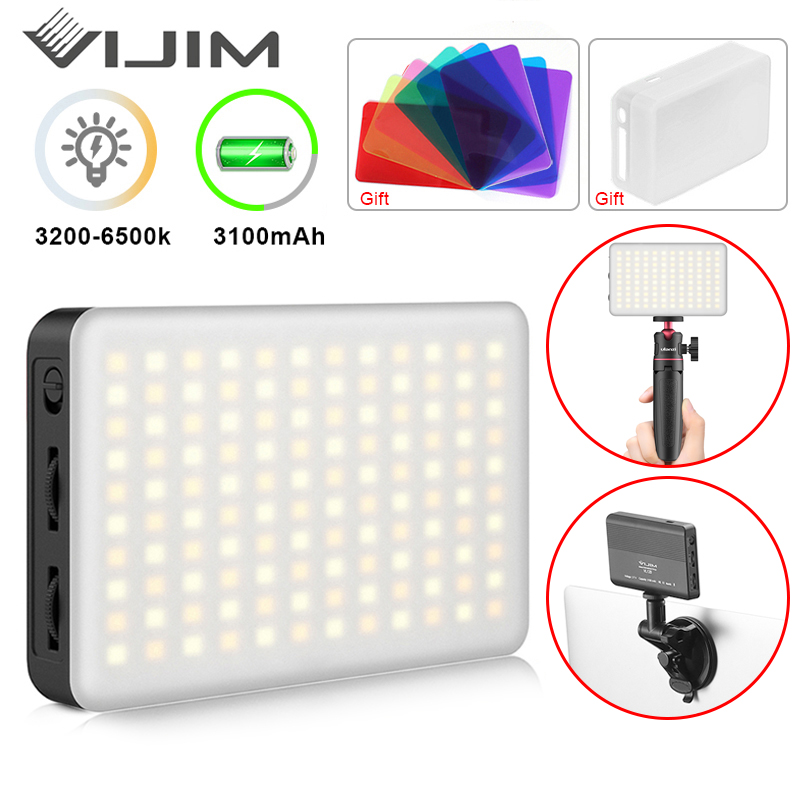 VIJIM VL120 LED Video Light Video Conference Lighting Kit Zoom Lighting for Computer with Tripod Stands Computer Desk Light lamp