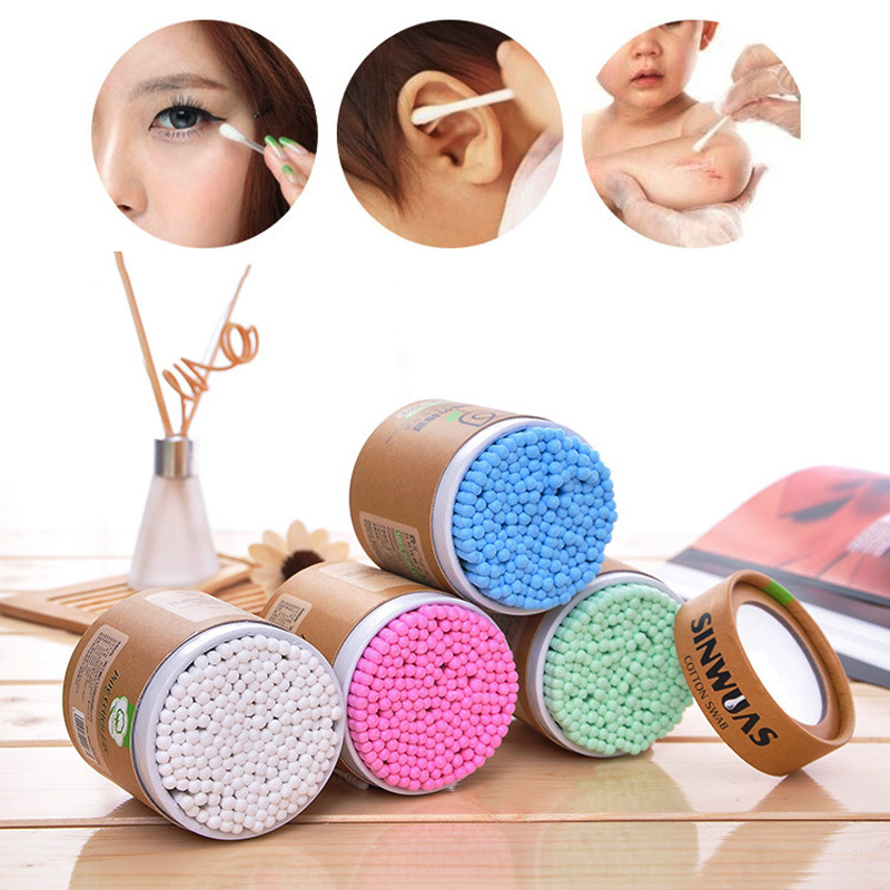 200Pcs/Box Bamboo Baby Cotton Swab Wood Sticks Double-Head Soft Cotton Buds Cleaning Of Ears  Tampons Cotonete Pampons Baby Care
