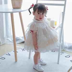 Летнее платье принцессы в стиле испанской Лолиты; Одежда для маленьких девочек; Кружевное платье с вышивкой для девочек; Платье для дня рожд...