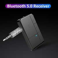 Transmisor receptor Bluetooth 5,0 3,5mm AUX Jack RCA A2DP música estéreo 2 en 1 adaptadores inalámbricos para el altavoz estéreo de la TV del hogar del coche