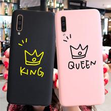 Para król królowa etui do Samsung Galaxy S8 S9 S10 Plus 5G S10e A50 A30 A70 A7 A6 J6 A8 Plus 2018 uwaga 10 Pro 8 9 M30 M20 przypadkach tanie tanio Odporna na brud Aneks Skrzynki Couple Love Heart Phone Case I9300 GALAXY SIII Galaxy note Galaxy note ii Galaxy nexus GALAXY NOTE I9220