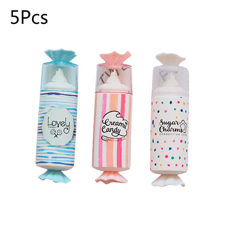 5PC Cute Candy Style Correction Tape Student School Supplies Office Accessories