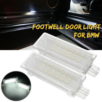 1Pair For BMW 1 3 5-7 Series X3 X5 X6 Mini Cooper LED Door Polite Luggage Light Emits 6000K Xenon White image