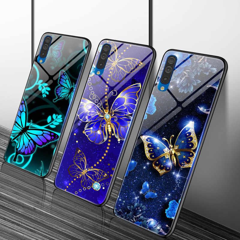 Glossy Pc + Tpu Voor Samsung Galaxy A10 A20 A30 A40 A50 A70 A3 A5 A7 A6 A8 Plus 2018 a10S A20S A30S A50S A20e Case Heldere Cover