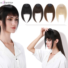 1pcs 14g Natural Hair Bangs For Women French Bangs Human Hair Fake Fringe Clip In Hair Extensions Hair Clip Front Neat Hairpiece