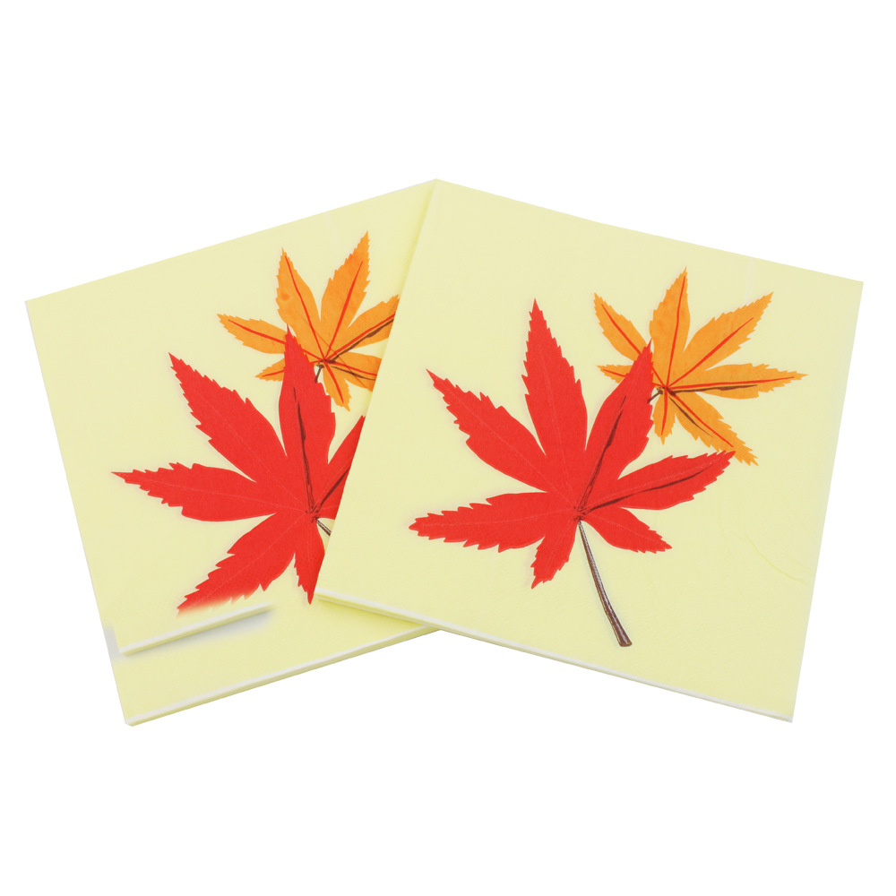 [Currently Available] Color Printed Napkin Maple Leaf Napkin Creative Tissue Napkin