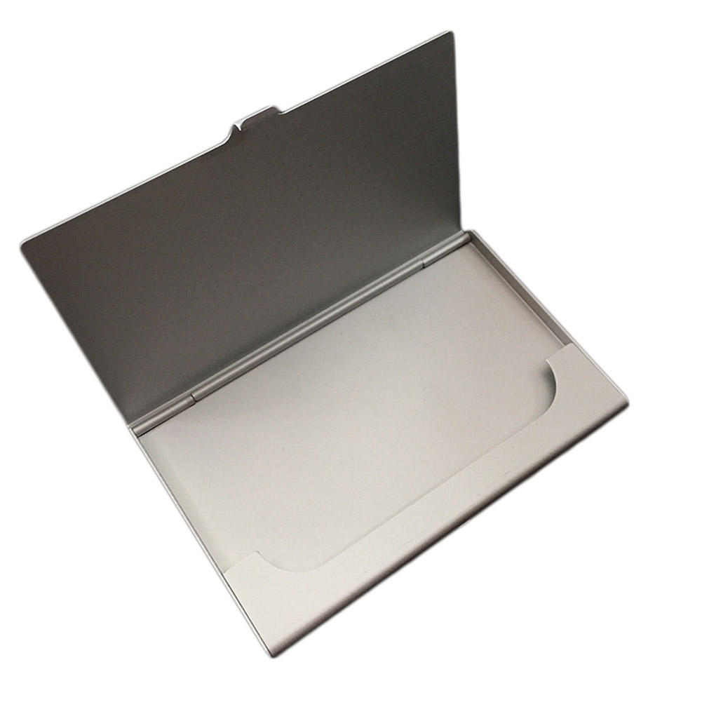 Excellent Quality Business ID Credit Card Holder Card Stock Pocket Case Creative Aluminum Metal Shiny Side Scan Christmas Gift