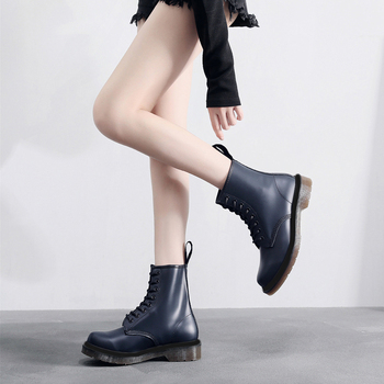 Women Boots Doc 8-Eye High Quality Leather Platform Winter Boot Martins Casual Motorcycle Woman Shoes Fashion Women Boots 2020