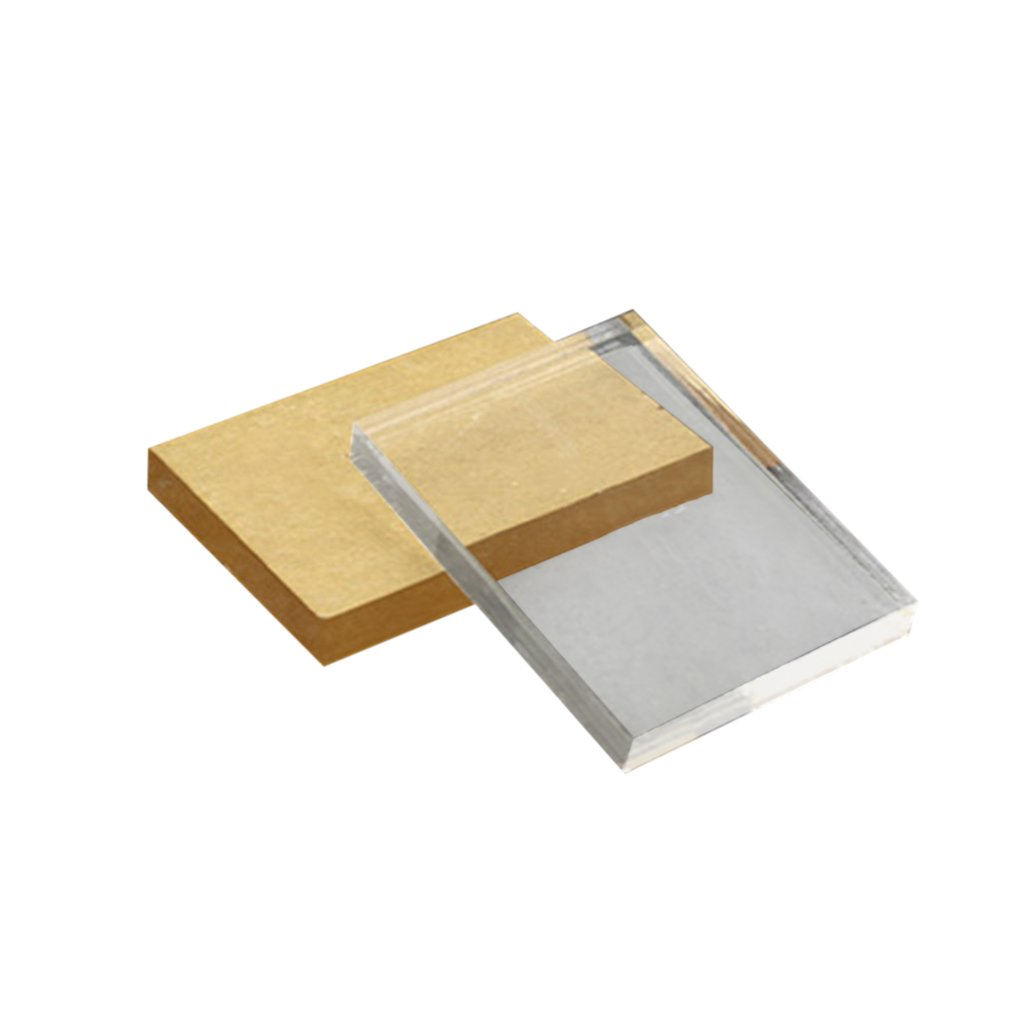 Lightweight Transparent Acrylic Stamp Block Rectangular Shape DIY Scrapbooking Color Process Stamp Block Tools