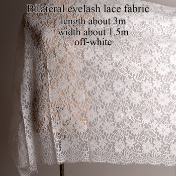 Free shipping High quality three-dimensional heavy weight lace fabric embroidered hollow eyelash edge lace fabric eyelash lace fabric soft lace trim lace material width 12cm 3m lot black white eyelash thin lace
