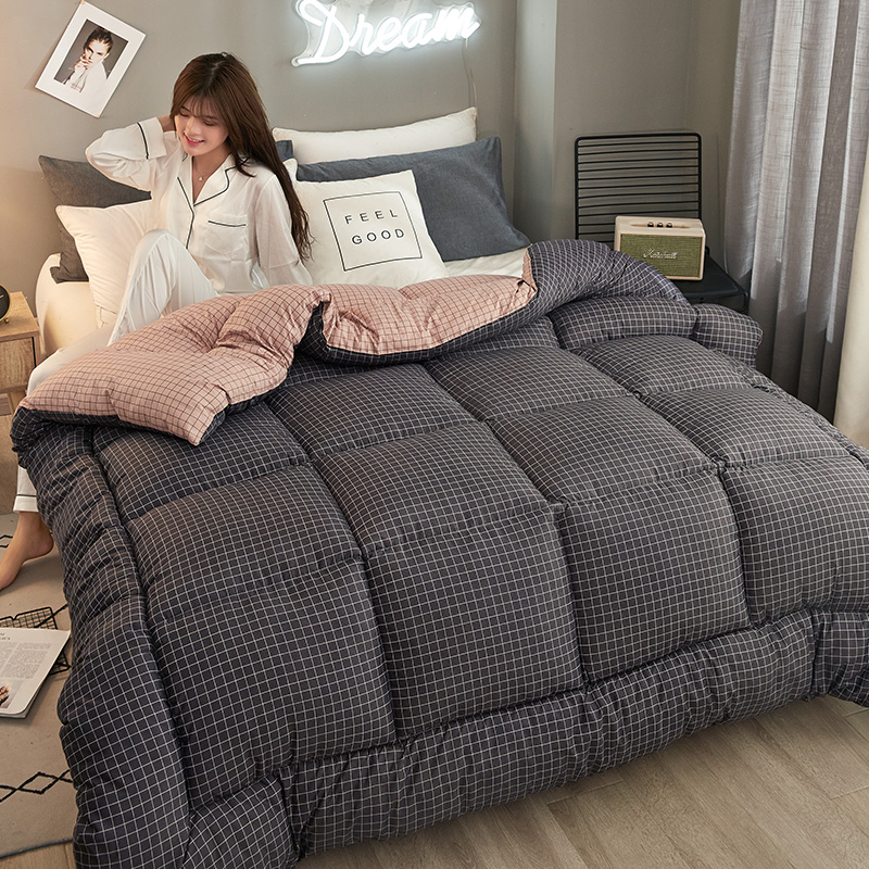 New Fashion Thickening Winter Comforters Down Couette Winter Comforter Duvet Queen/King Size Blanket Quilt