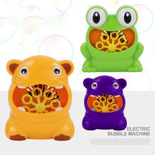New Automatic Bubble Maker Kids Cute Frog Bubble Blower Machine Children Outdoor Toys For Birthday Party Gift