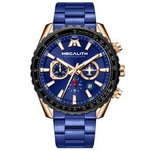 MEGALITH Military Sport Men Watches Top Luxury Brand Waterproof Full Steel Strap Male Clock Gift Quartz Watch Relogio Masculino watches men naviforce brand men sport watch full steel waterproof quartz watches male military luminous clock relogio masculino