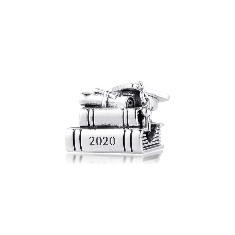 CKK 2020 Graduation Books Charms 925 Original Fit Pandora Bracelets  Sterling Silver Beads for Jewelry Making Women