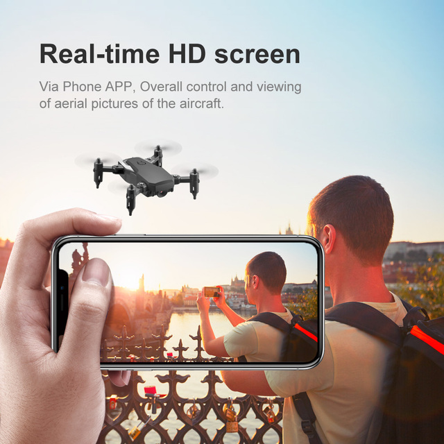 Mini Drone LF606 4K HD Camera Foldable Drone One Click Return FPV Drone Follow Me RC Helicopter Quadrotor Children Toy