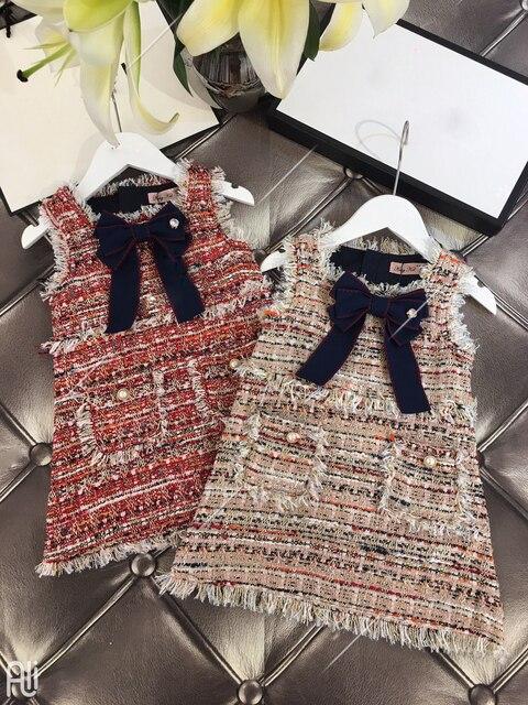 תינוק בנות מערבי אופנה אפוד שמלת מסיבת שמלת ילדה המפלגה נסיכת שמלה חדש KidsSpring סתיו חורף בגדים