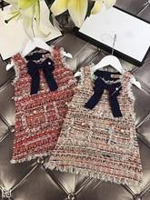 Baby Girls Westernized Fashion Vest Dress party dress Girl Party Princess Dress New KidsSpring Autumn Winter Garments