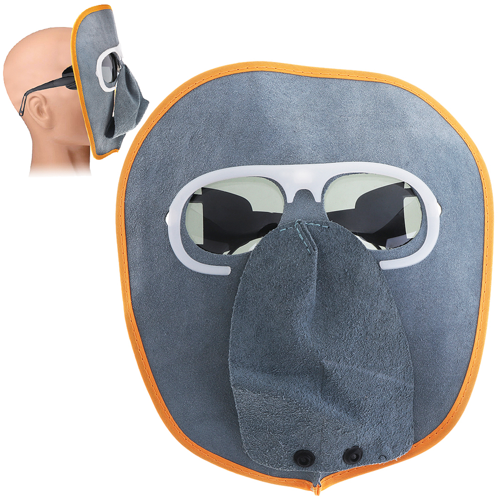 Comfortable Foldable Cow Leather Welding Helmet Automatic Variable Light Welding Mask And Sunglasses For Various Welding