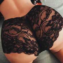 Плюс размер 5XL женское сексуальное кружевное белье, трусы, тонкие женские дышащие сексуальные кружевные трусики черного и белого цвета