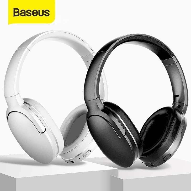 Baseus słuchawki bezprzewodowe zestaw słuchawkowy Bluetooth 5.0 słuchawki składane słuchawki sportowe zestaw słuchawkowy do gier zestaw głośnomówiący