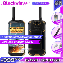 "Blackview BV9500 פרו 5.7 ""18:9 10000mAh IP68 Waterproof Smartphone 6GB 128GB אלחוטי טעינה הגלובלי גרסה נייד טלפון"