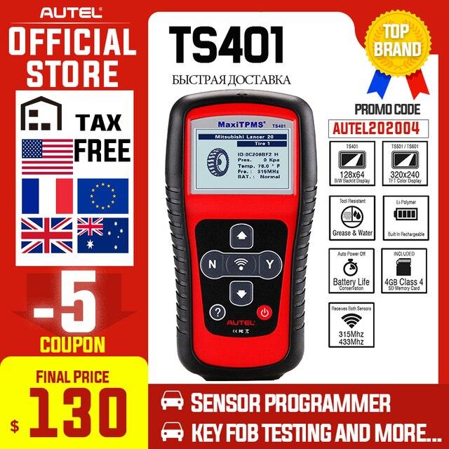 Autel MaxiTPMS TS401 TPMS Tool OBD2 Scanner Activate Scan TPMS Sensor Copy OE ID to Mx sensor Programming Autel TPMS Mx Sensor