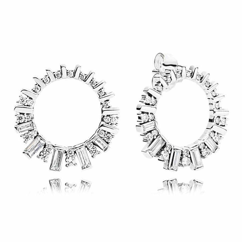 לב צורת קרחונים יופי עכשווי עגיל פנינה 925 כסף סטרלינג עגילי הרבעה לנשים מתנה בסדר אירופה תכשיטים