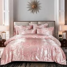 Luxury Jacquard Duvet Cover Set European Floral Print Bedding Set Single Double King Size Bed Quilt