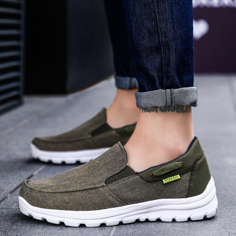 Canvas Shoes Men Casual Shoes Breathable Light Man Footwear Autumn Spring Slip On Loafers Plus Size 47 48 Zapatillas Hombre