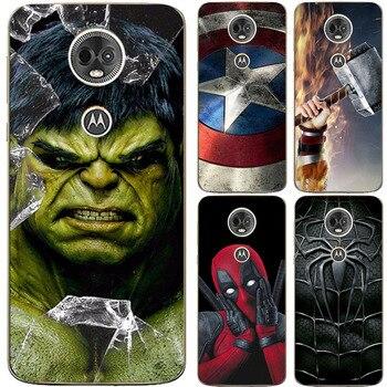 Перейти на Алиэкспресс и купить Супергерой чехол для телефона чехол для Motorola Moto E5 E 5 силиконовый чехол для Motorola Moto G6 Play xt1944-3 Fundas