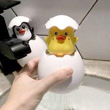Детская игрушечная уточка для ванны пингвин яйцо дождь полив игры вода Спрей бассейн игрушка прекрасный пластиковый душ для купания форма для детей