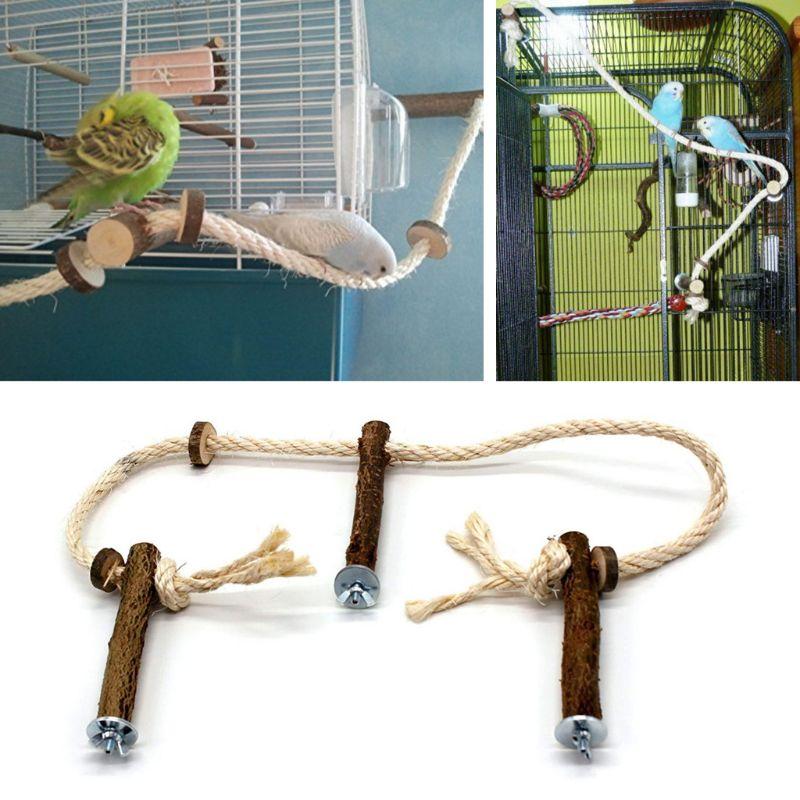 font b Pet b font Bird Parrot Cockatiel Stand Frame Parakeet Cage Ladder Climbing Hammock