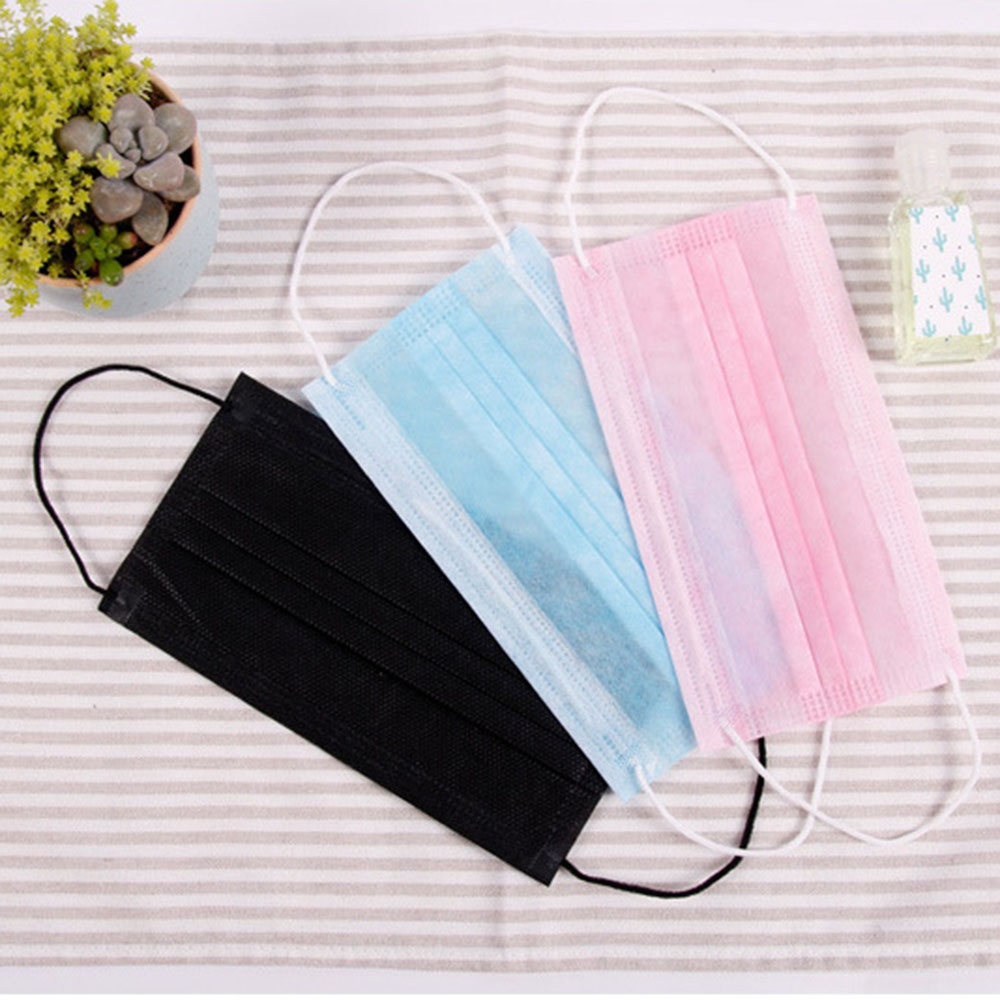 10pcs/Bag 3 Layers Dustproof Facial Protective Cover Masks Anti-Dust Disposable Medical Salon Earloop Face Mouth Masks