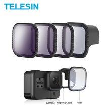 Комплект магнитных фильтров TElESIN CPL ND 8/16/32 для gopro 8 hero8, поляризационный фильтр ND8 ND16, Защитная линза, аксессуары для объектива камеры