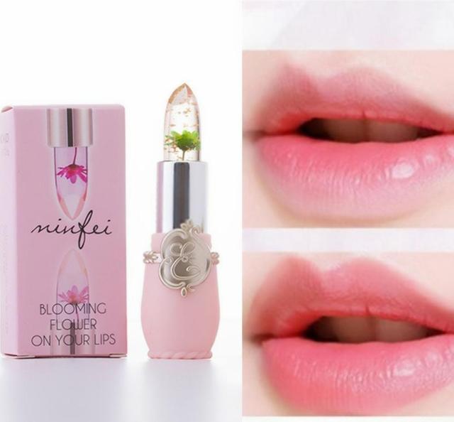 Flower Lipstick Color Jelly Transparent Temperature Change matte lipstick set 1