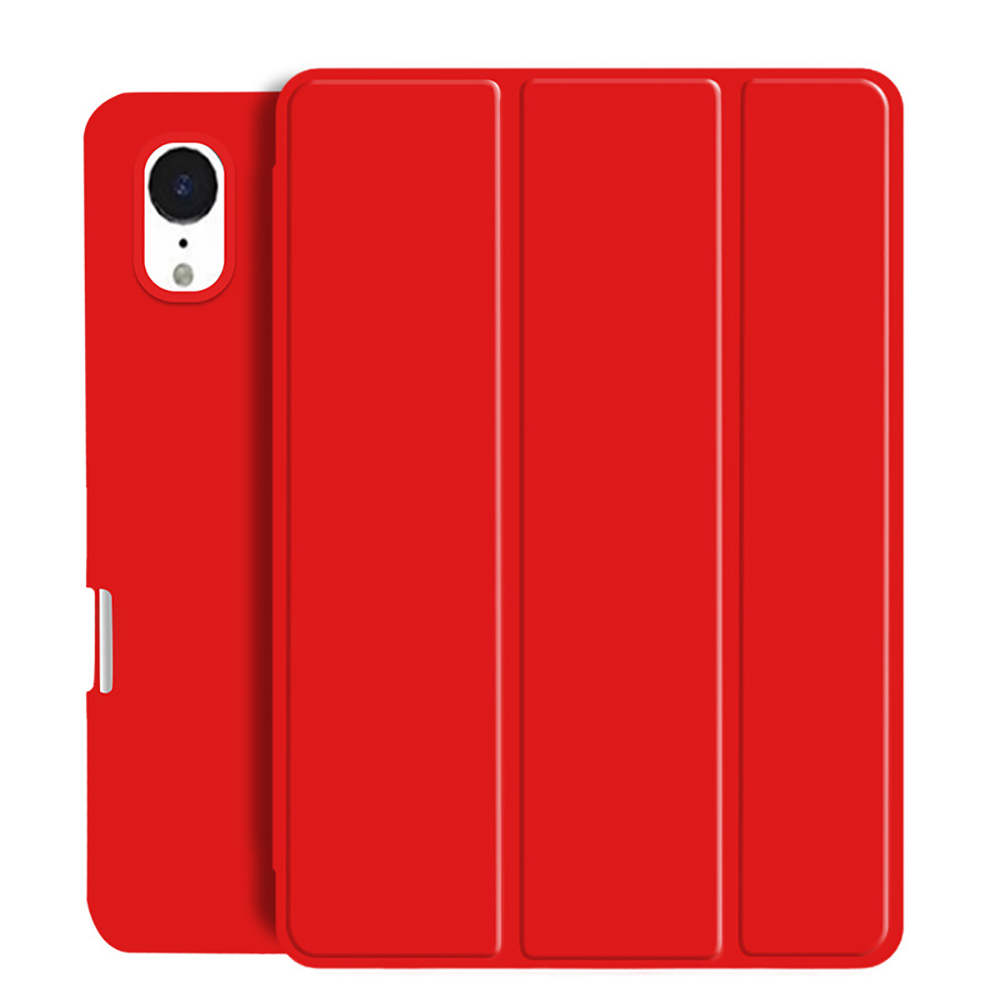 Red Red Tablet Case For New iPad Air 4 10 9 2020 Soft Silicone Cover With Pencil Holder