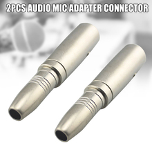 2 Pcs 6.5mm Female to 6.35mm Male Jack Audio Mic Adapter Connector Accessories SP99