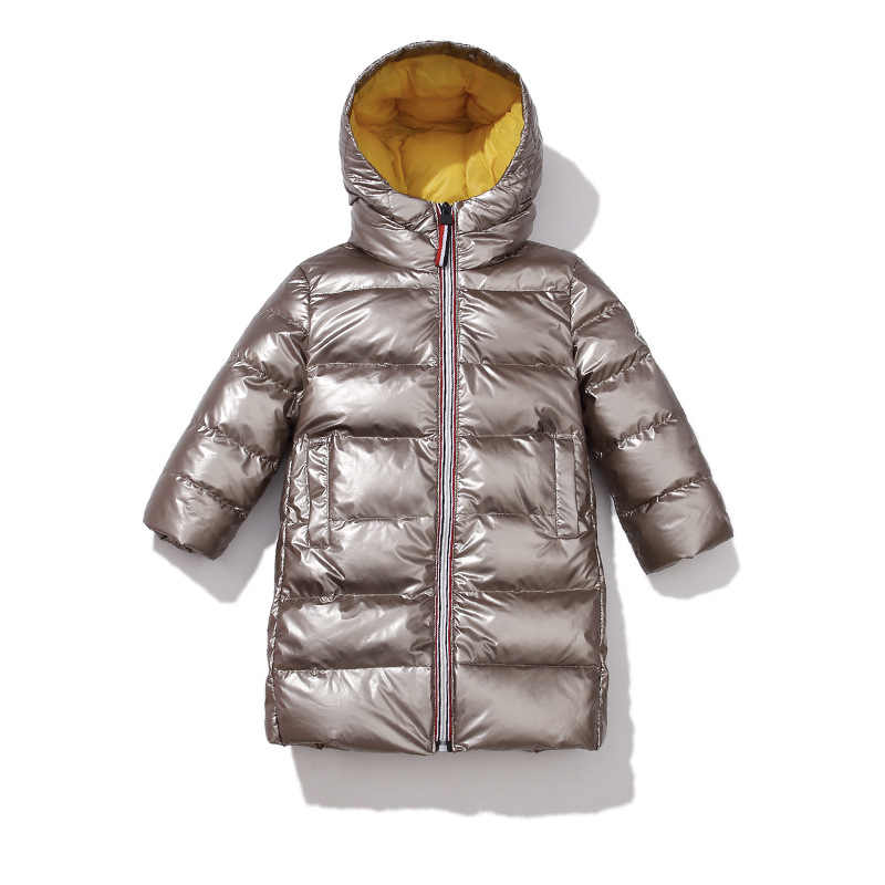 Fashion trend Warm Down Jacket for Girls Kids Girls Long Winter Jacket 3-12 Years Teenagers Boys Coats Winter Children Outerwear