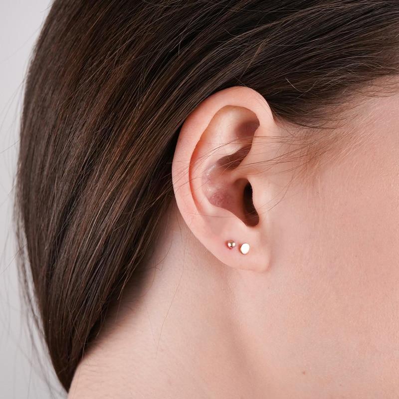 JUJIE Minimalist Stainless Steel Stud Earrings For Women Korean Small Geometric Earring Set Jewelry Wholesale/Dropshipping