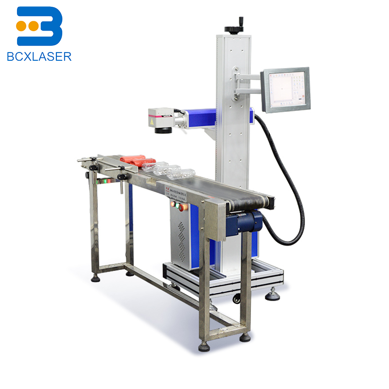 Online Flying  Laser Marker 20w 30w 50w 100watt Co2 Fiber Laser Marking Machine