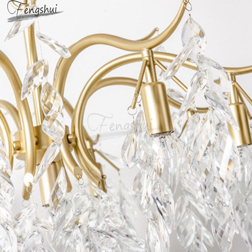Американский свет Роскошные хрустальные люстры светильники Европейский стиль LED гостиная столовая спальня Лофт кафе вилла Декор Luminaria