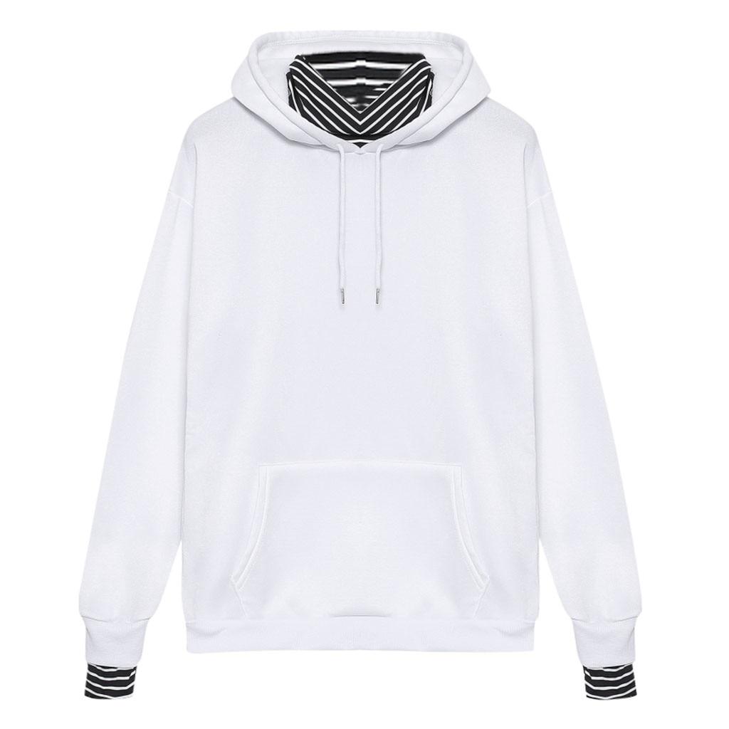 Harajuku Hoodies And Sweatshirts Women Plus Size Sweatshirt Causal Long Sleeve Fashion Striped Hooded Pullover Sudadera Mujer