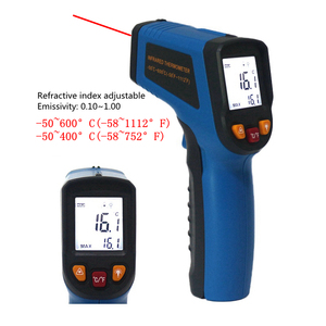 Image 2 - Digital Infrared Thermometer Single/Double laser Non Contact Temperature Meter Pyrometer  50~400/550/750/1100/1300/1600
