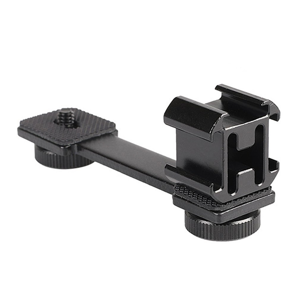 Hot Shoe Adjustable Mount Monitor Flash Adapter Microphone Bracket Holder for Video Camera Photography for Canon Nikon Sony