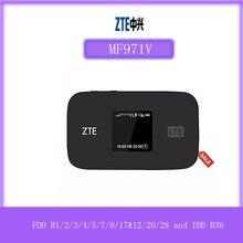Original desbloqueado zte mf971v 4g + lte cat6 300mbps wifi móvel hotspot 4g mifi bandas fdd b1/2/3/4/5/7/8/17 & 12/20/28 e tdd b38