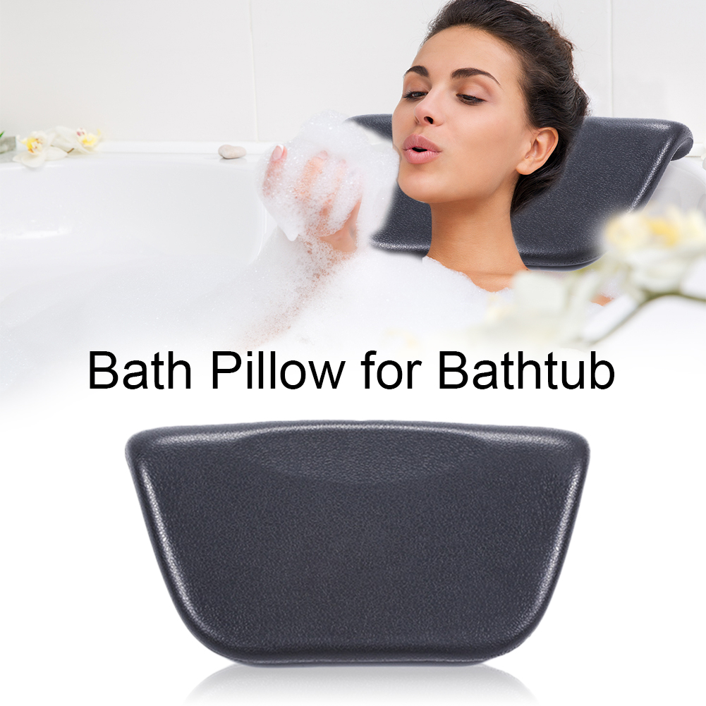 Bath Pillow for Bathtub with Non-Slip Suction Cups Ergonomic Spa Pillow Helps Support Head Back Shoulder and Neck